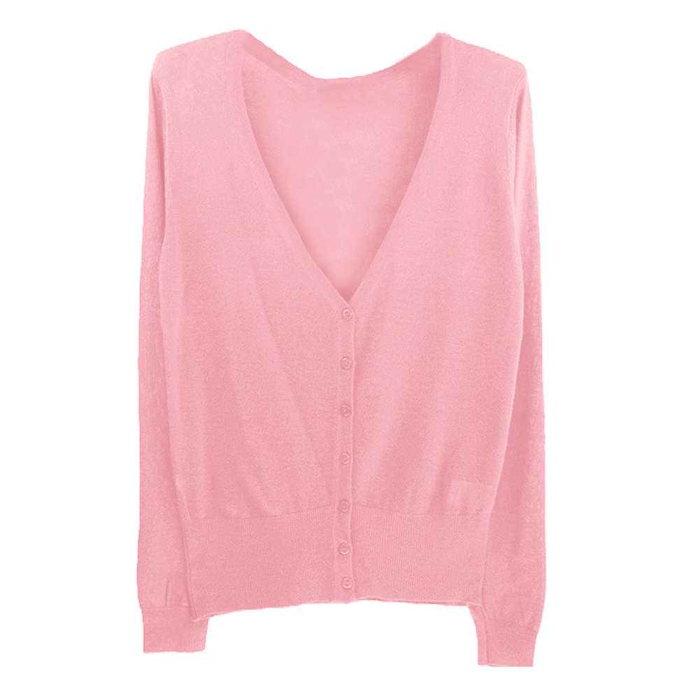 Fashion Casual Women Thin Sweaters Fashion V-neck Full Sleeve Women Knitwear Cardigans Women Coat