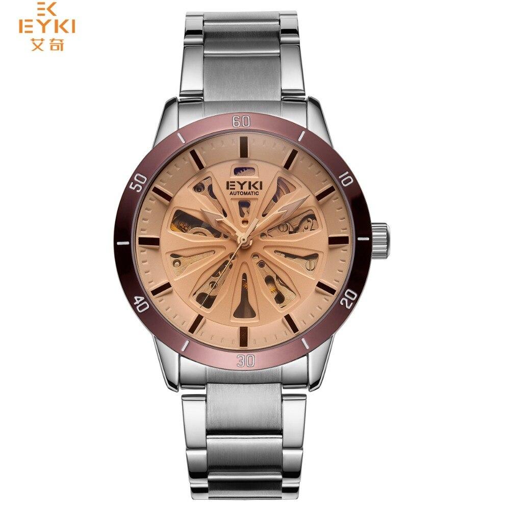 EYKI 2018 Men Watches relojes male Automatic Mechanical Wristwatch waterproof Business Relogio Masculino Stereoscopic hollowing цена 2017