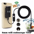 5m 720P HD 2.0MP 8mm Waterproof Inspection Camera Wifi Wireless 6LED Tube Endoscope Borescope for iOS Android Phone