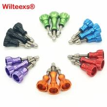 Аксессуары WILTEEXS, 1 длинный + 2 коротких цветных шурупов, алюминиевый болт, гайка, винт для Hero5 4 3 4 4 4 SJ4000 XIAOYI 2 4K Mount
