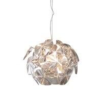 Северной Европы Art Apple люстра спальня исследование освещения исследование Ресторан светодиодные лампы прозрачный акриловый абажур e27 лампа