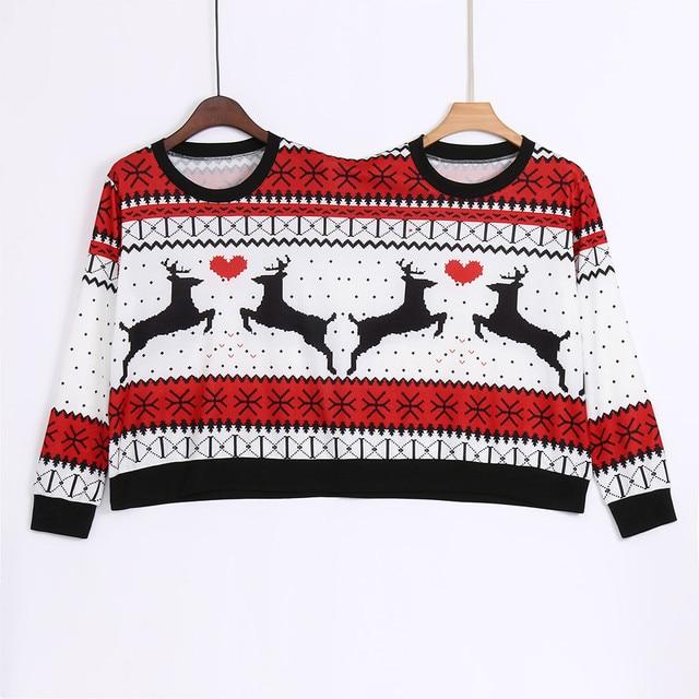 Dos personas Ugly Sweater Xmas Winter Couples pulóver novedad Navidad blusa  Top camisa para mujer Pull 8cfb449d3e60