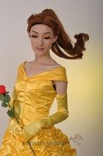 Mayor belleza y la bestia belle princesa cosplay fancy dress traje para la fiesta y de navidad de disfraces de halloween envío gratis