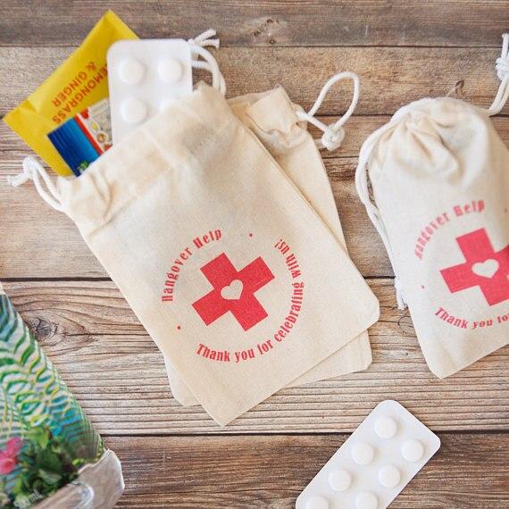 custom red cross emergency bridal shower Bachelorette ...
