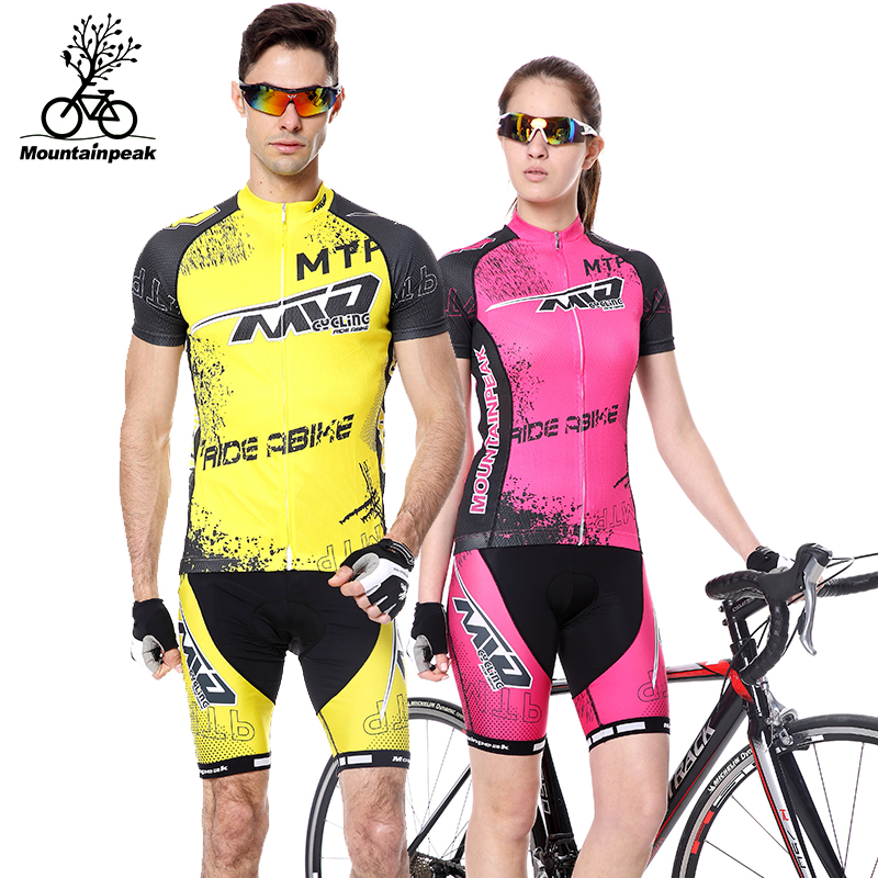 2017 Summer Man Unisex Short Sleeve UV Protect Breathable Quick Dry Cycling Jerseys MTB Road Bike 3D Padded Riding Clothing Sets dichski cycling jerseys suit mountain bike quick dry breathable winter long sleeve men uv protect riding pants new clothing sets