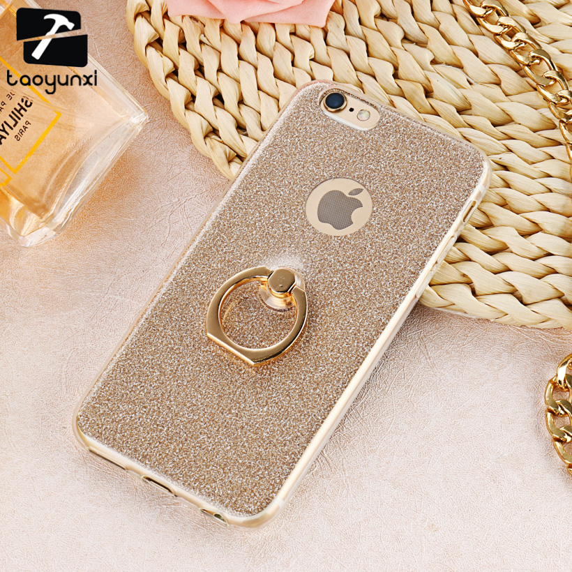 TAOYUNXI Loose Powder Cardboard Phone Case For Apple iPhone6 Plus iPhone6S Plus Cover Soft TPU Bag Cover For iPhone 66S Plus