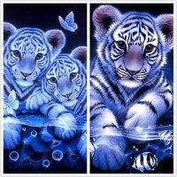 Daimond Diy Diamond Painting Animals Tiger 5d Square Mosaic Cross Stitch Kit Paint Full Dill Diamont