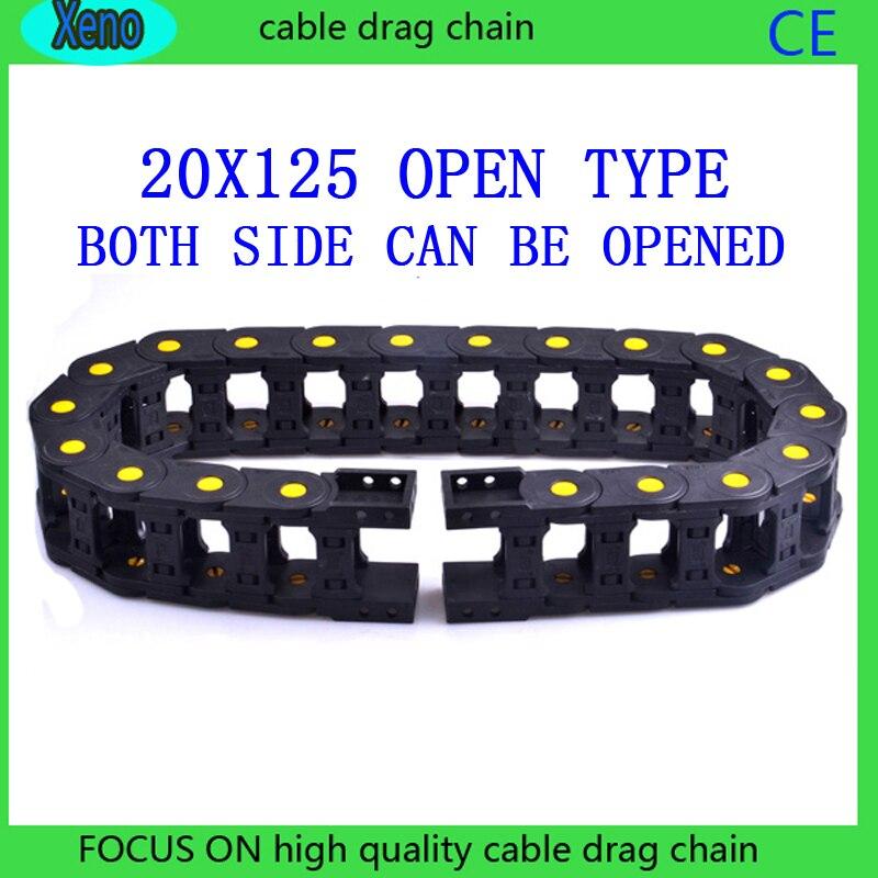 20x125mm 10 метров, открытого типа, усиленный нейлон провода Перевозчик с желтыми точками для ЧПУ маршрут