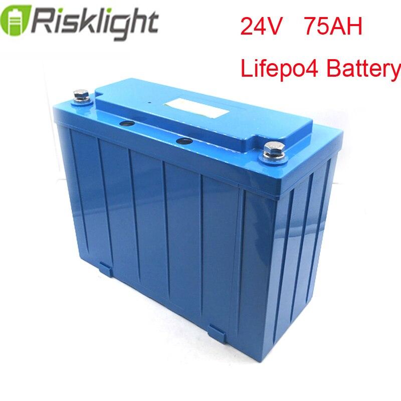 Batterie au lithium ebike 24 V 75Ah LiFePO4 vert économiseur ev scooters/moto électrique recharge li-ion batterie