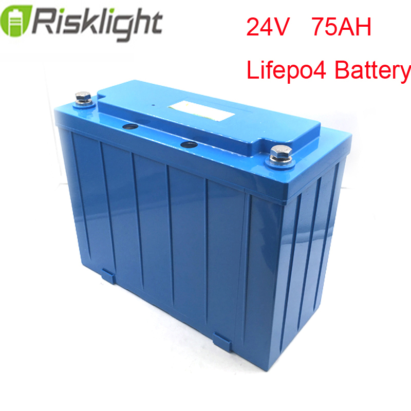 Ebike batterie au lithium 24 v 75Ah LiFePO4 vert saver ev scooters/électrique moto recharge li-ion batterie pack