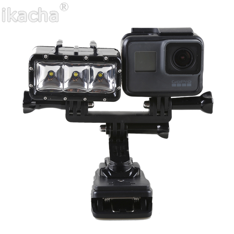 Waterproof LED Fill Light Underwater 30m Diving Flash Light Handheld Selfie Monopod Diving Underwater Mount For