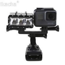Водонепроницаемый LED Заполняющий Свет Подводный 30 м Дайвинг Вспышка Света + Ручной Selfie Дайвинг Подводные монопод Крепление Для GoPro 5 4 3 + 3 2