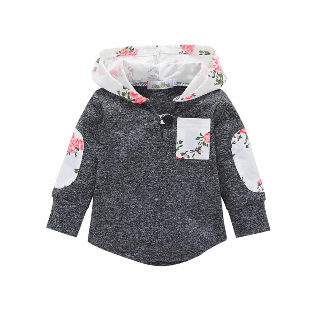 MUQGEW 2018 Winter Clothes baby Warm coat Floral Hoodie Pocket Sweatshirt  veste enfant fille manteau garcon 35971c314c8d