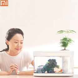 شاومي الهندسة خزان الأسماك Aquaponics النظام البيئي حديقة المياه الصغيرة البيئية حوض للأسماك حوض السمك شفاف