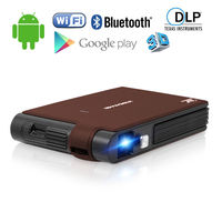 Mini Pocket DLP 3D Projector Home Theater Android WIFI Bluetooth Full HD Video Mobile Beamer for Smartphone Laptop TV