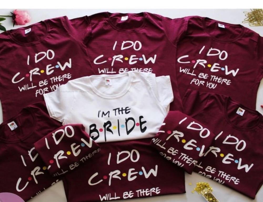Bridesmaid Shirt Bachelorette Shirt Bachelorette Party Shirt I Do Crew WHITE Friends TV Shirt Bridal. Bridal Party Shirt Engaged AF