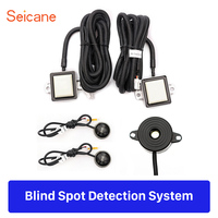 Seicane 2* radar sensors Rearview Mirror Active Area Waterproof Car Blind Spot Detection BSD System with Safety Buzzer Alarm
