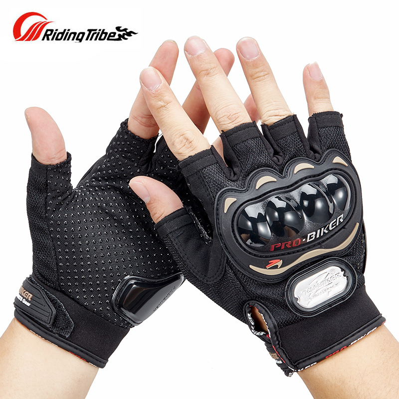 Riding Tribe Half Finger Motorcycle Gloves Summer Men Women Moto Protective Gear Racing Scooter Bicycle Bike Gloves