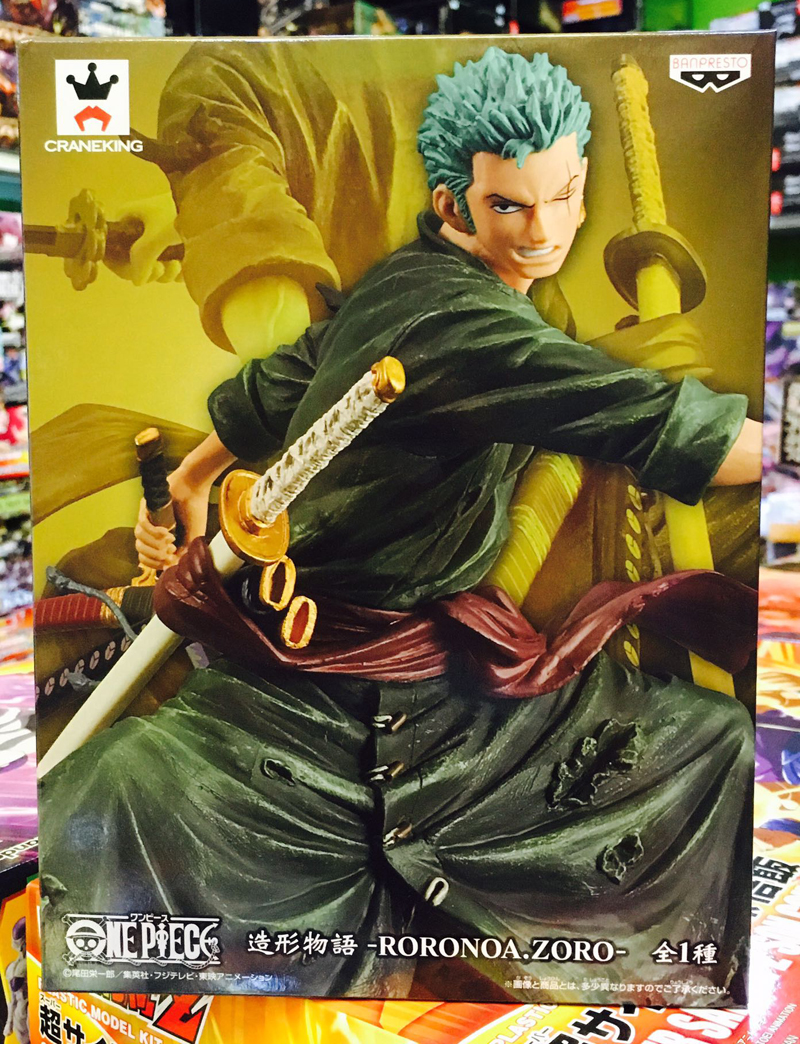 Japan Anime ONE PIECE Original Banpresto Zoukei Monogatari Collection Figure - Roronoa.Zoro anime cartoon monogatari nisemonogatari