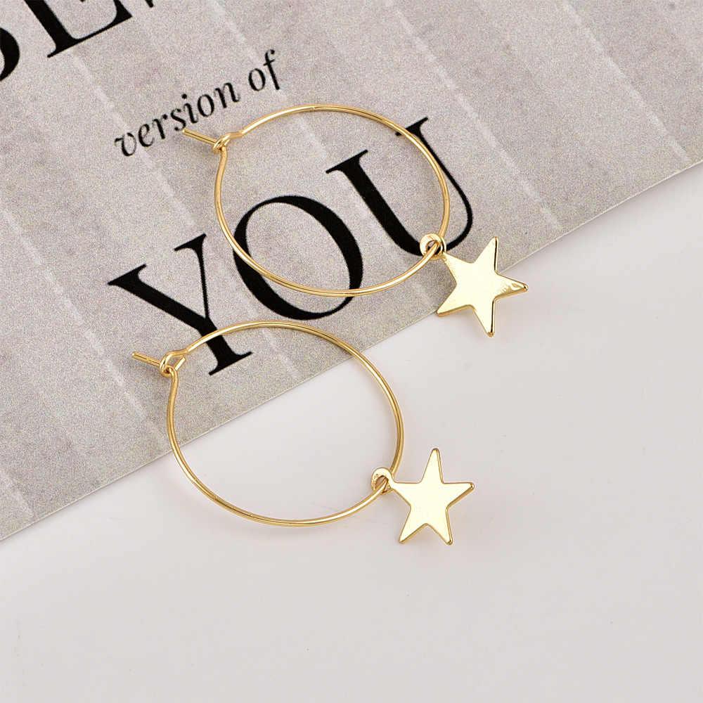 ใหม่ต่างหูแฟชั่นยอดนิยมบุคลิกภาพ Pentagram Ear แหวนหญิงอุปกรณ์เสริมขายส่งและการค้าต่างประเทศ
