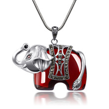 Baolong authentic 925 Sterling Silver Silver Garnet Pendant pendant like Thailand God sweater exaggerated atmosphere