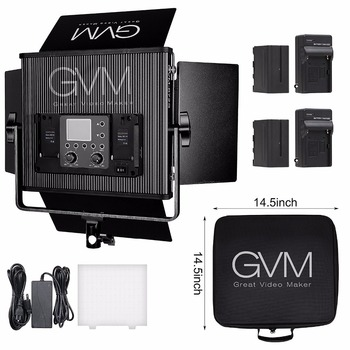 GVM Professional Video Light with Battery Dimmable GVM-672S LED Lighting Kit for Youtube Video shooting and Photography Light