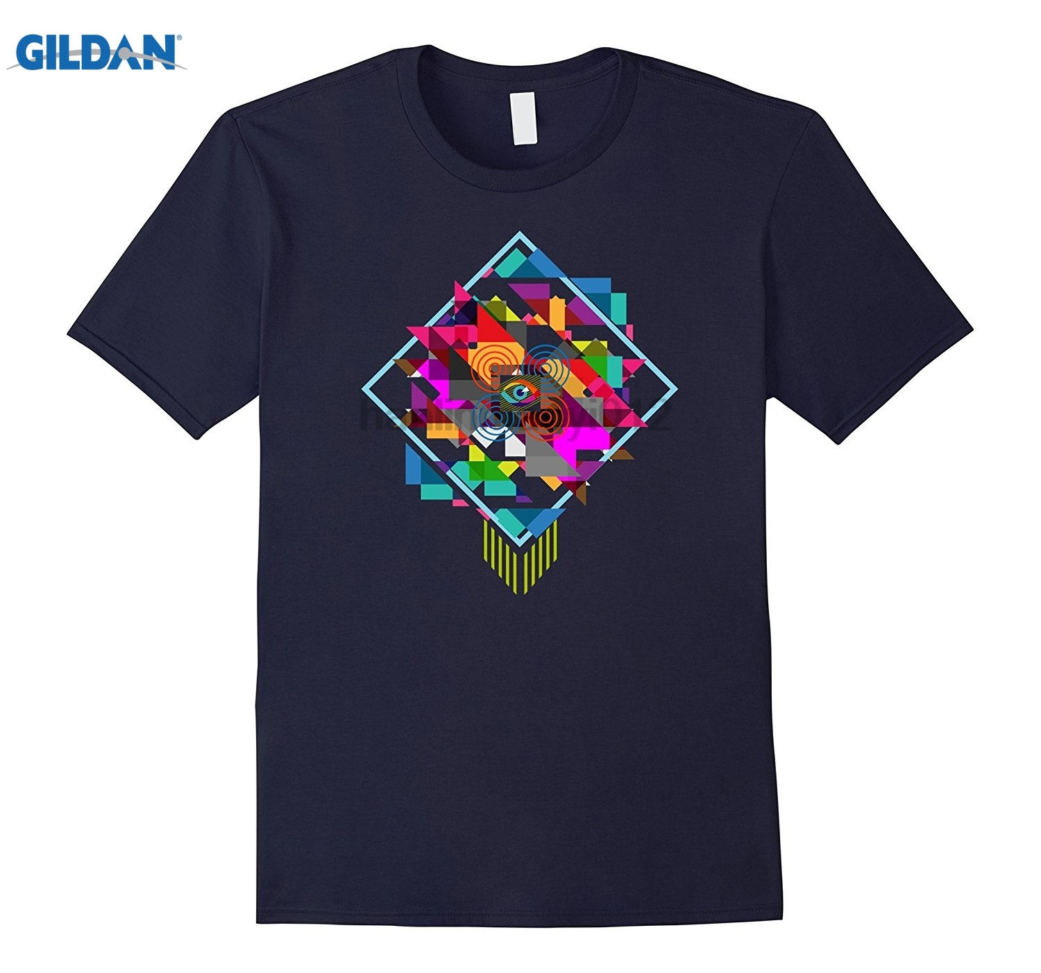 GILDAN Abstract T-shirt, Vector Art Modern Geometric by Zany Brainy Womens T-shirt ...