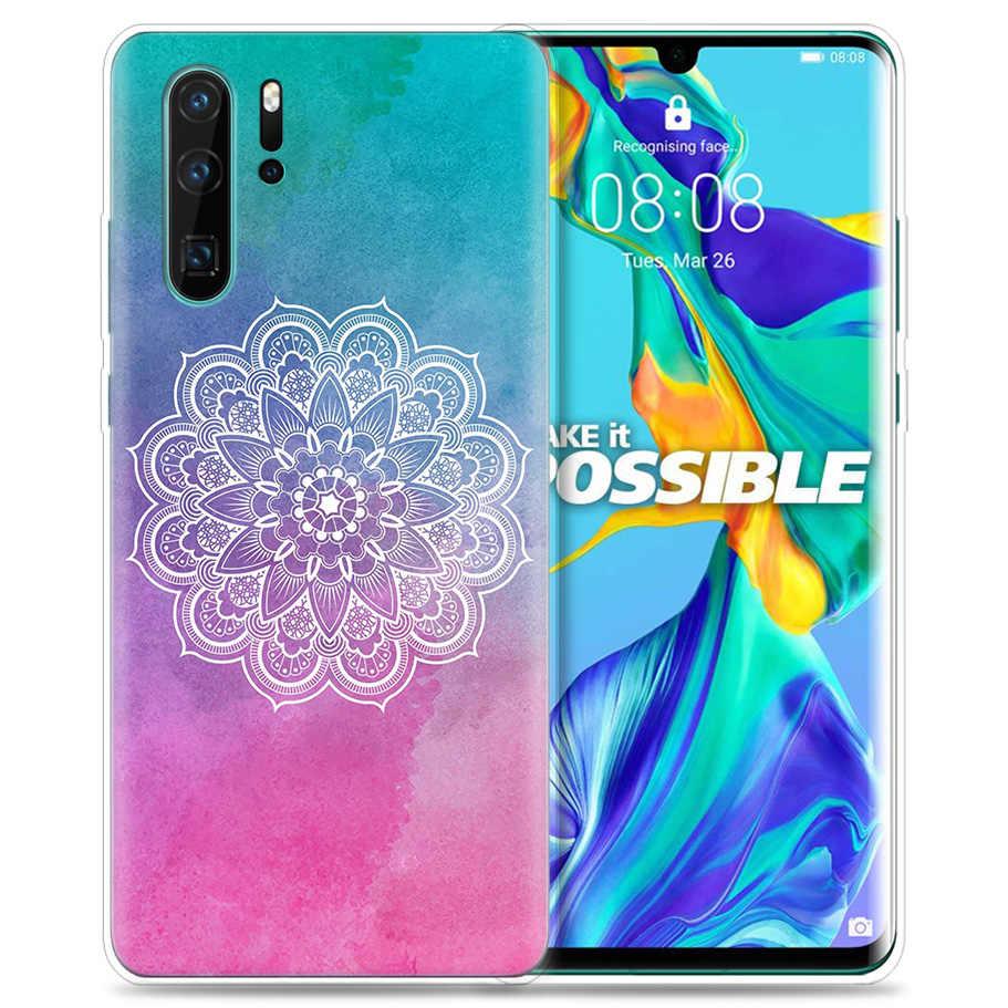 Huawei 社 P30 P20 P10 P9 メイト 10 20 Lite プロ携帯携帯電話袋 P スマート Z 2019 プラス花ペイズリー曼荼羅 P8 P30Pro P2