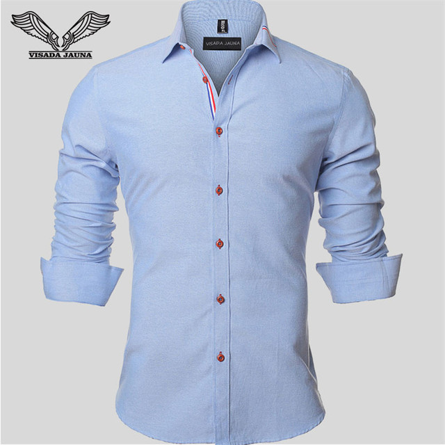 2017 Spring Autumn New Men Shirt Solid Color Long Sleeve Casual Brand Clothing Camisa Social Masculina Business Dress 5XL N352