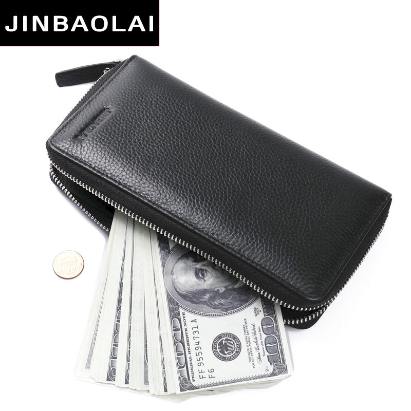 New Men Wallets Clutch Genuine Leather Brand High Quality Wallet Male Organizer Cell Phone Clutch Bag Long Coin Purse Wallet contact s 100% genuine leather wallet men long vintage cow leather casual purse brand design high quality wallets cell phone bag