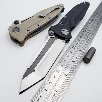 цена JSSQ Tactical Folding Knife D2 Blade G10 Handle Hunting Camping Survival Military Combat Knives Outdoor Pocket Multi EDC Tools онлайн в 2017 году