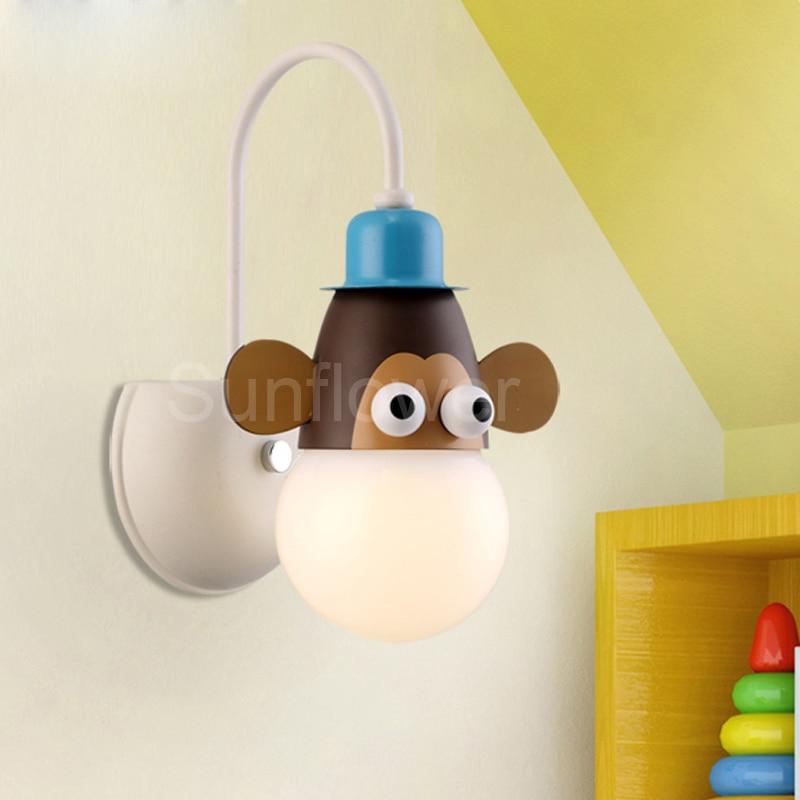 Childrens Wall Lamp: Novelty Wall Light Lamp Children's Kids Bedroom Animal