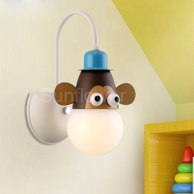 childrens bedroom lighting. unique childrens novelty wall light lamp childrenu0027s kids bedroom animal cartoon  giraffemonkeyzebra on childrens lighting