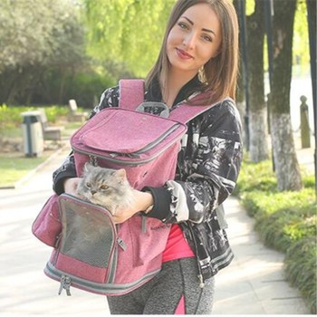 PUPISHE 2019 Luxury Oxford Pet Carrier Backpack For Dog Portable Travel Cats Animal Handbag Outdoor Shoulder Bags Yorkie 1