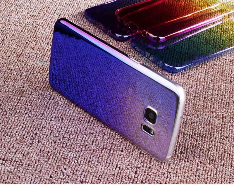 Kolorowe case do samsung galaxy s7 edge s8 plus s8 case gradientu kolor pc mocno plecy pokrywa dla samsung s8 s7 krawędzi case artisome 14
