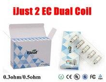 100% Authentic  Ijust 2 EC Coil Head 0.3hm 0.5ohm Dual Coils Eleaf EC Coil Head for Ijust2 kit Melo 2