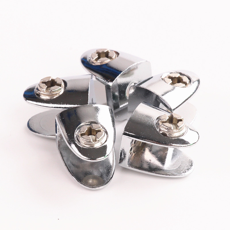 5PCS Zinc Alloy Glass Clamp Shelf Plate Bracket Support Clip Holder Furniture Hardware Home Accessories 23mm*18.5mm