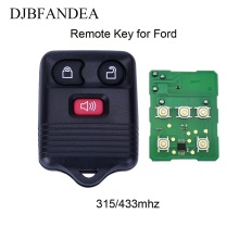 DJBFANDEA 3Buttons 433/315Mhz Remote Car Key For Ford 2001 2002 2003 2004 2005 2006 2007 Escape F 150 Explorer CWTWB1U345