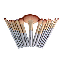 VANDER Champagne Gold Professional 32 Pcs Makeup Brushes Tools Face Lip Eyebrow Shadow Cosmetic Brush Set