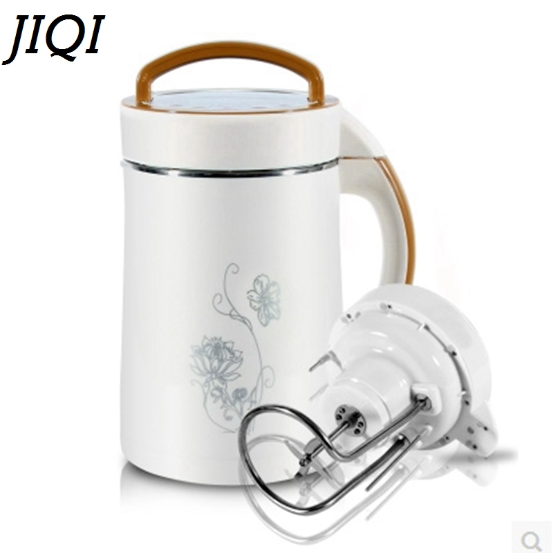 JIQI 850W Multifunctional Soymilk Soya-bean Milk Maker household automatic soybean Milk machine Rice cereal Blender extractor EU цена и фото
