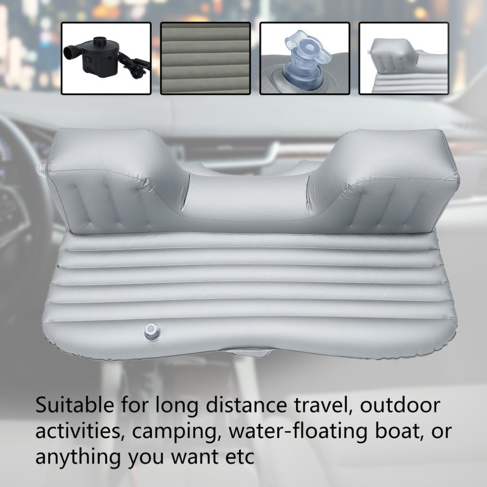 Universal Drive Travel Inflatable Car Bed SUV Back Seat Cover Air Bed Cushion Mattress Camping Companion Flocking Cloth HWC pillowcase classic style wave pattern car comfy back cushion cover