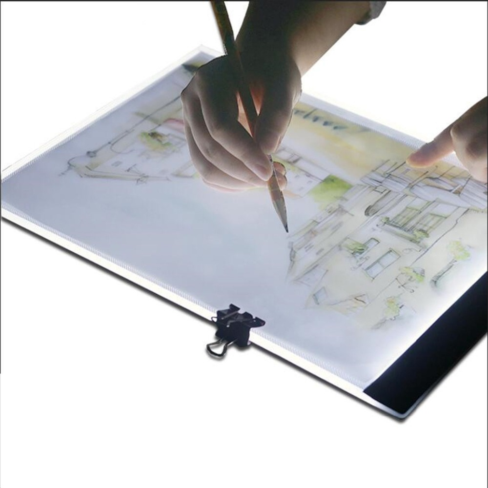 Acrylic Light Box A4 LED Artist Tattoo Art Stencil Board Light Box Tracing Drawing Board Pad USB Night Light Copy Write LED free shipping pm100cl1a120 can directly buy or contact the seller