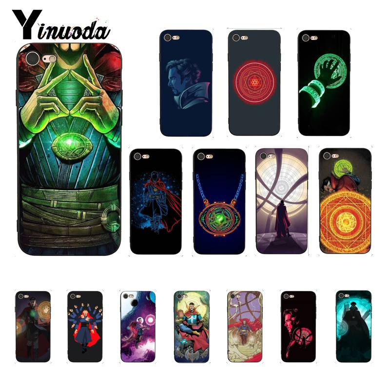 Half-wrapped Case Adroit Yinuoda Marvel Comics Doctor Strange The Avengers Newly Arrived Black Phone Case For Iphone8 7 6 6s 6plus X Xs Max 5 5s Se Xr 10 Delicious In Taste