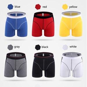 Image 4 - Cuecas calzoncillos masculinas, 4 pçs/lote algodão, cuecas calzoncillos, cuecas masculinas soltas, calecon para homens xxxl, xxxl