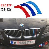 3D M Styling Front Grille Trim MotorSport Strips Grill Cover Stickers For 2009 2010 2011 2012