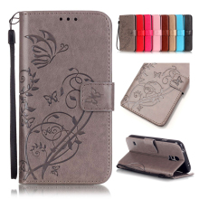 Flower Printing Luxury PU Leather Stand Wallet Flip Cover Phone Case for Samsung Galaxy S2 S3 S4 S5 S3 mini S4 mini S5 mini цена
