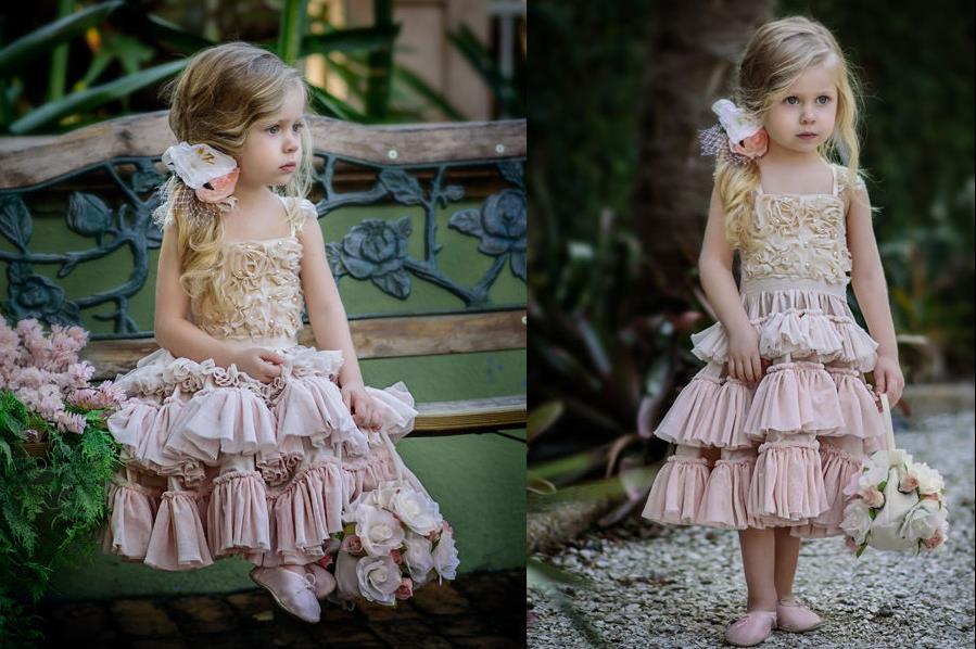 New Flower Girl Princess Dress Kid Party Pageant Wedding Bridesmaid Tutu Dresses стоимость