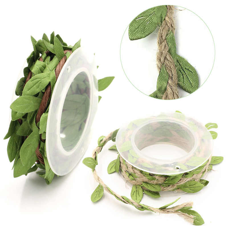 Wedding DIY Twine String Silk Leaves 2m With Leaf Party Home Garden Festival Decoration Artificial Leaves Flower Garlands