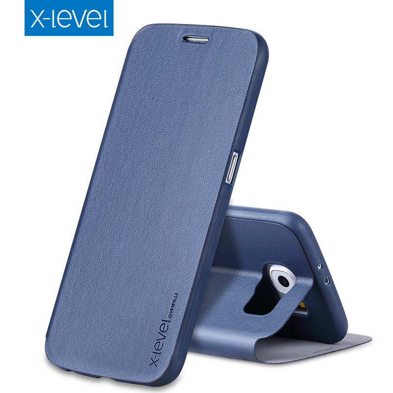 X Level Luxury Business PU Leather Case for Samsung Galaxy S6 Flip Cover for Samsung S6