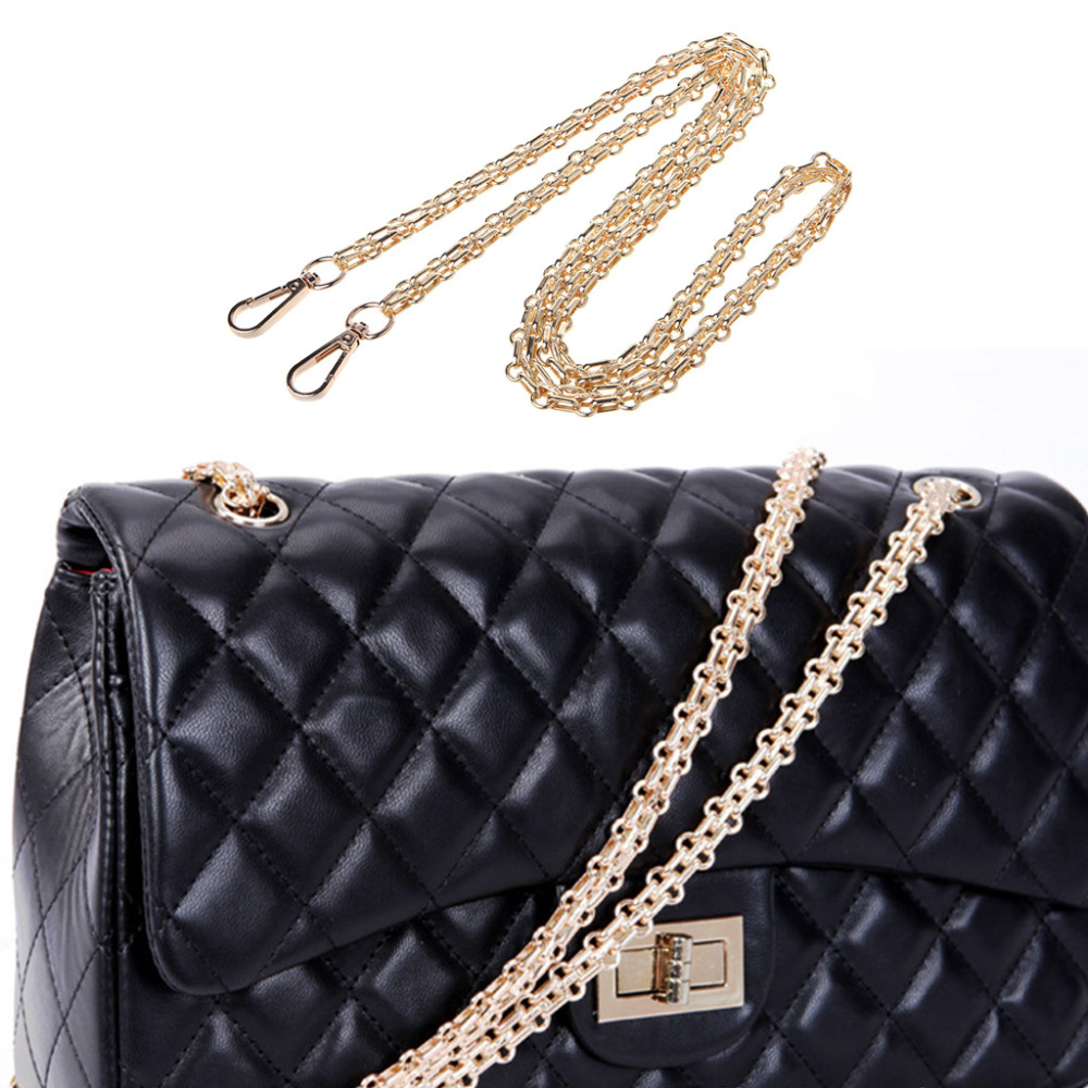 THINKTHENDO Long 120cm/60cm/40cm Luxury Fashion Metal Purse Chain Straps Handle Shoulder Bag Cross Body Replacement Handbag